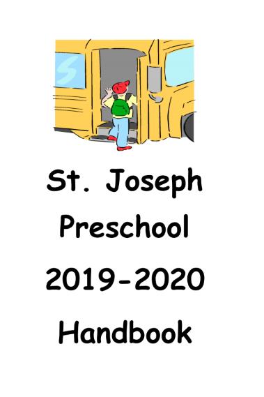 St. Joseph Preschool Handbook